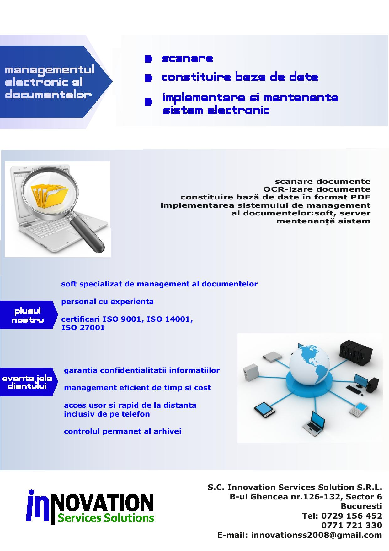 S.C. Innovation Services Solution S.R.L. - Arhivare Documente Arges